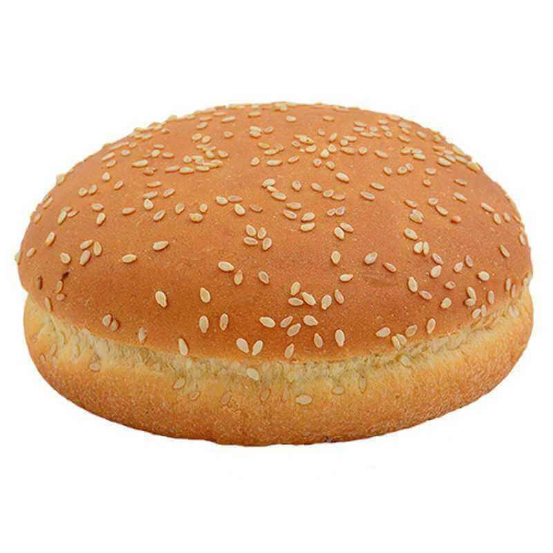 булочка для гамбургера молочная с кунжутом 60г