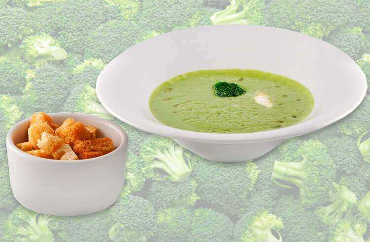 Вегетарианский суп пюре из брокколи