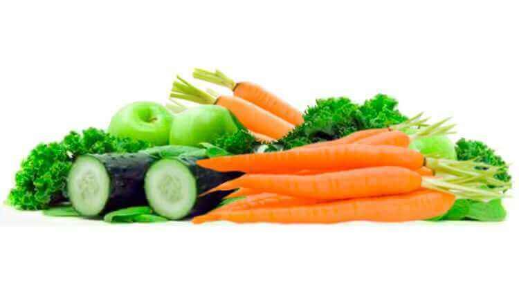 Зеленые и оранжевые овощи