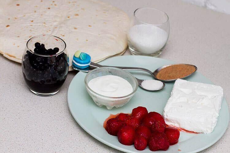 Ингредиенты для приготовления чимичанги