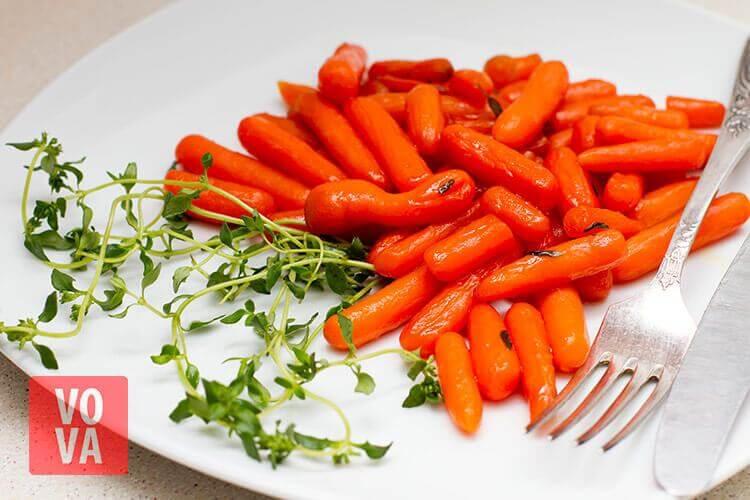 морковка мини в карамельной глазури фото