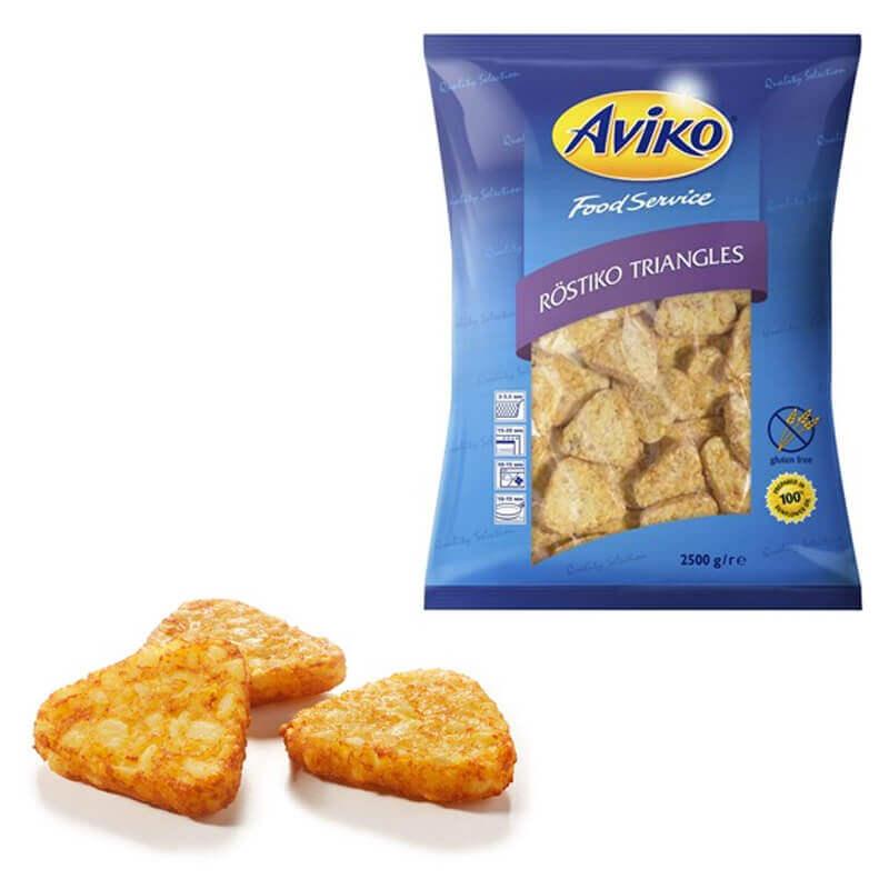 треугольники из тертого картофеля