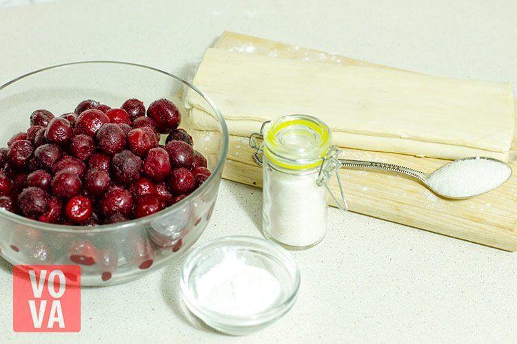 ингредиенты для корзинок с вишнями