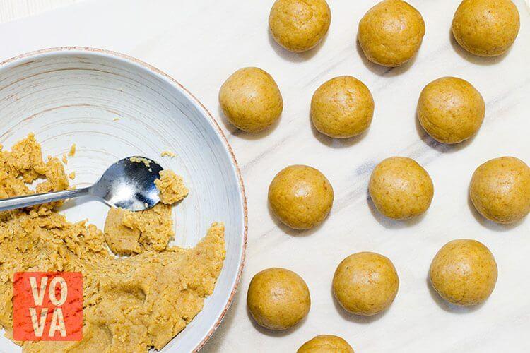 шарики для конфет из тыквы