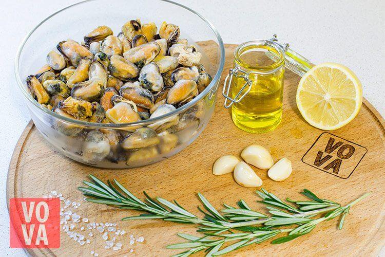 ингредиенты для шашлыка из мидий
