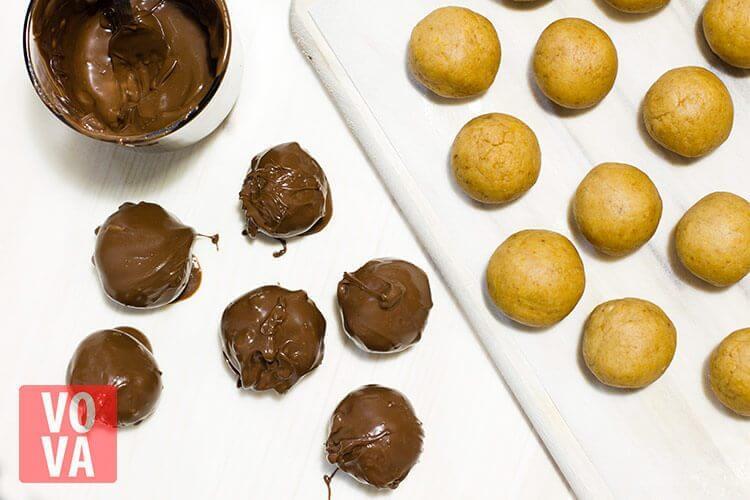 шарики из тыквы в шоколаде