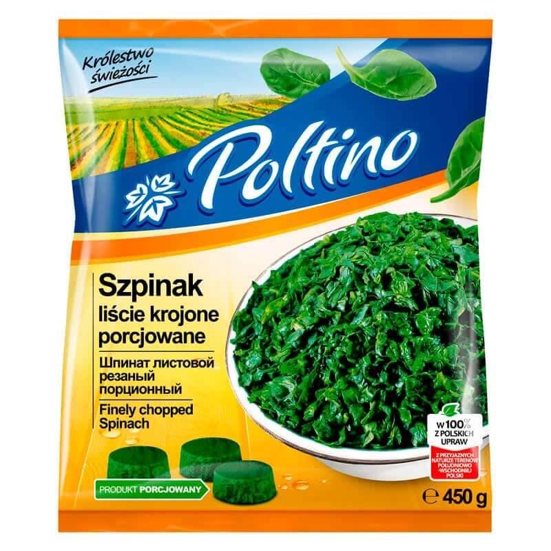 шпинат листовой резаный 450г тм poltino