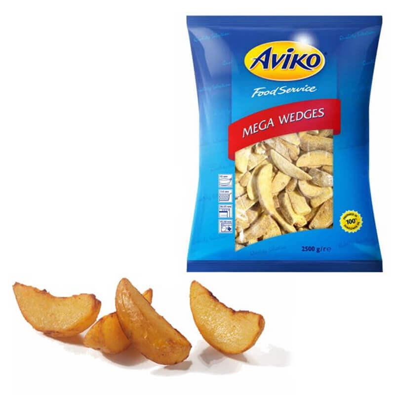 картофель фри экстра большие дольки в кожуре aviko