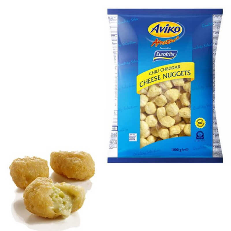 сырные наггетсы чеддер с перцем халапеньо в кляре aviko
