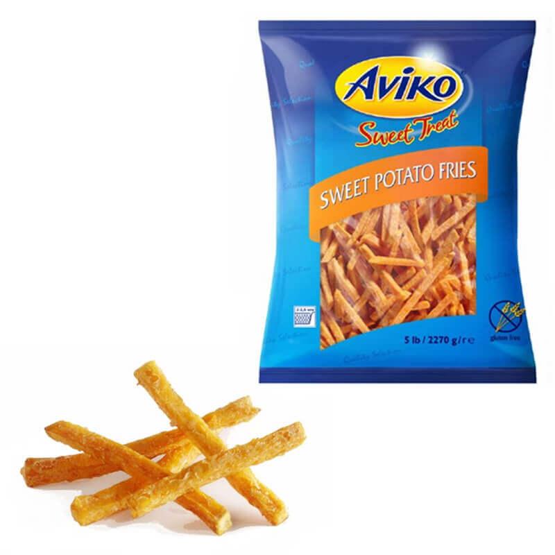 сладкий картофель фри aviko