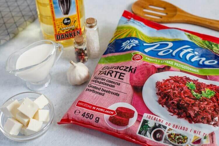 ингредиенты для свекольного крем-супа