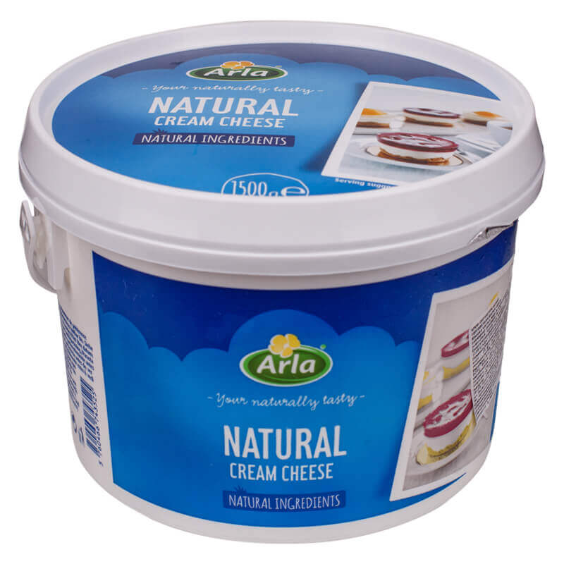 крем-сыр natural тм arla 70% 1,5кг