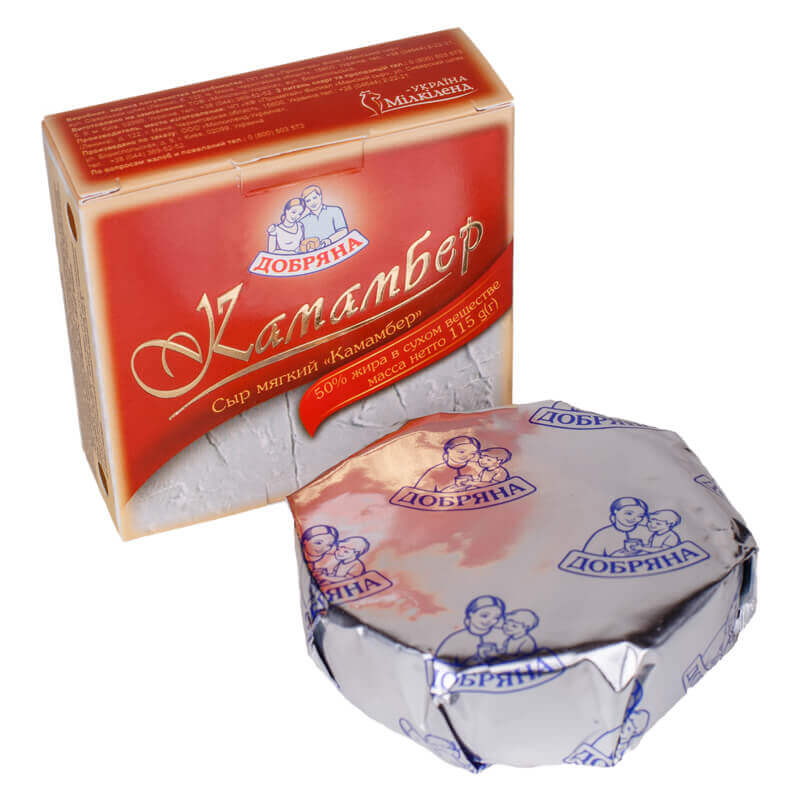 сыр камамбер 50% тм добряна 115г