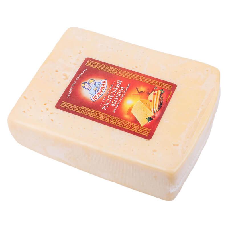 сыр російський 50% тм добряна ~1,4кг