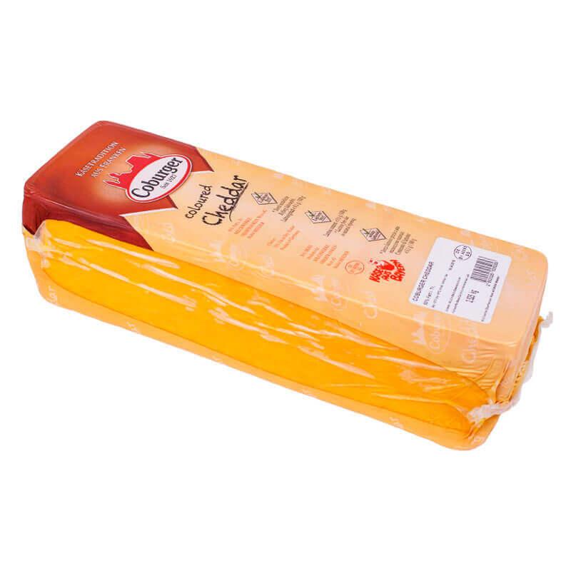 сыр чеддер coloured 50% тм coburger