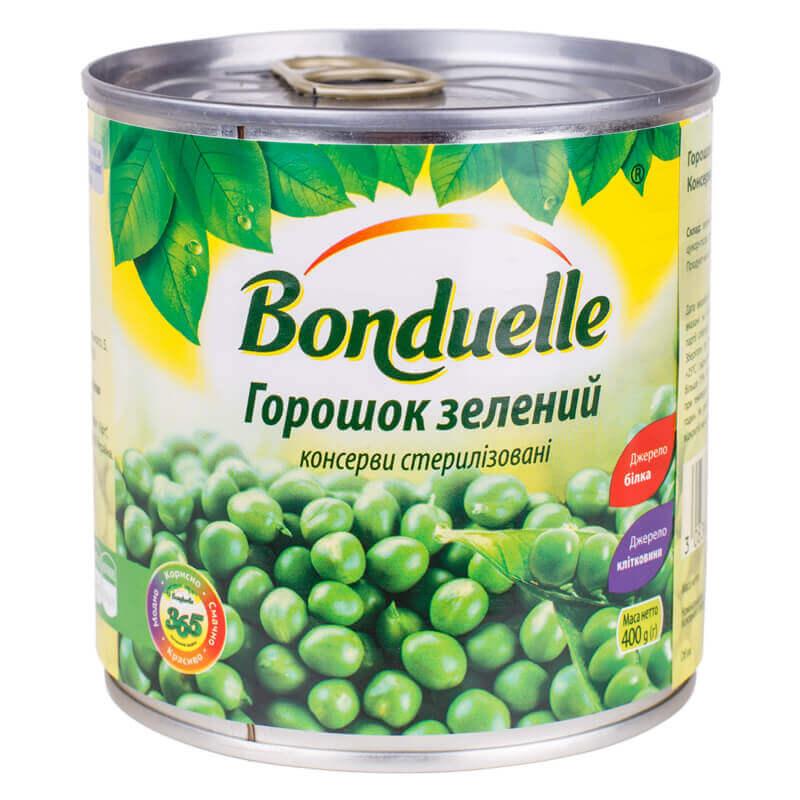 зеленый горошек консервированный тм bonduelle 400г
