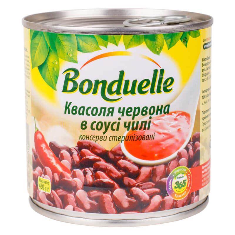 фасоль красная в соусе чили тм bonduelle 430г