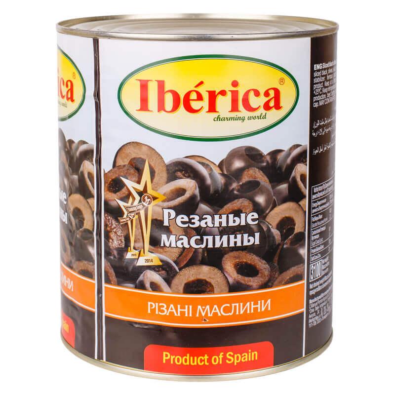 маслины резаные тм iberica 3000г