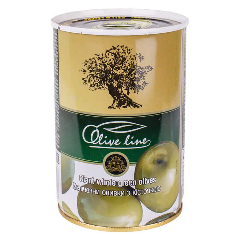 оливки огромные сорта гордаль с косточкой тм olive line 420г
