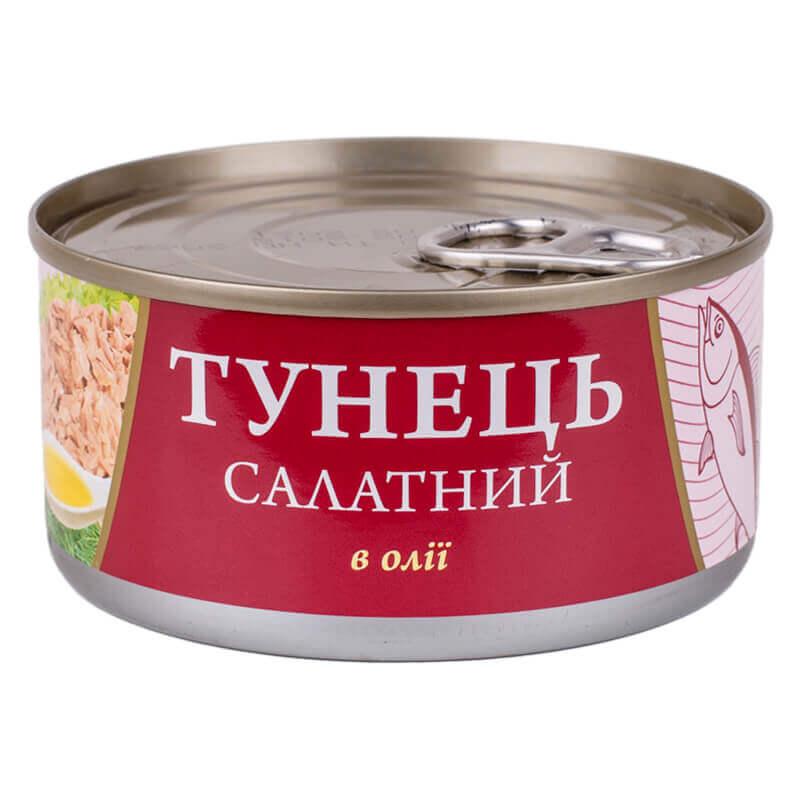 тунець салатный в масле тм fish line 185г