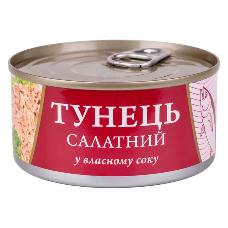 тунец салатный в собственном соку тм fish line 185г