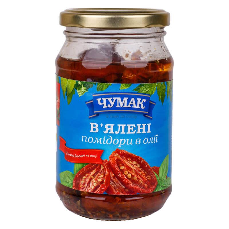 вяленые помидоры в масле тм чумак 280г