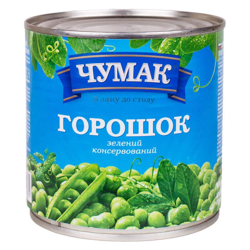 горошек зеленый тм чумак 420г