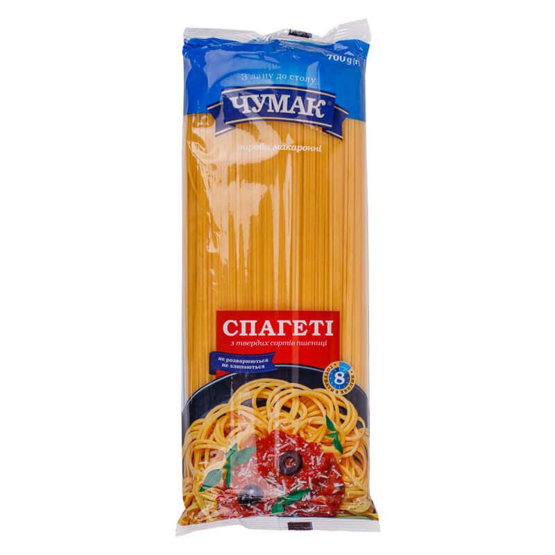 макароны спагетти тм чумак 700г