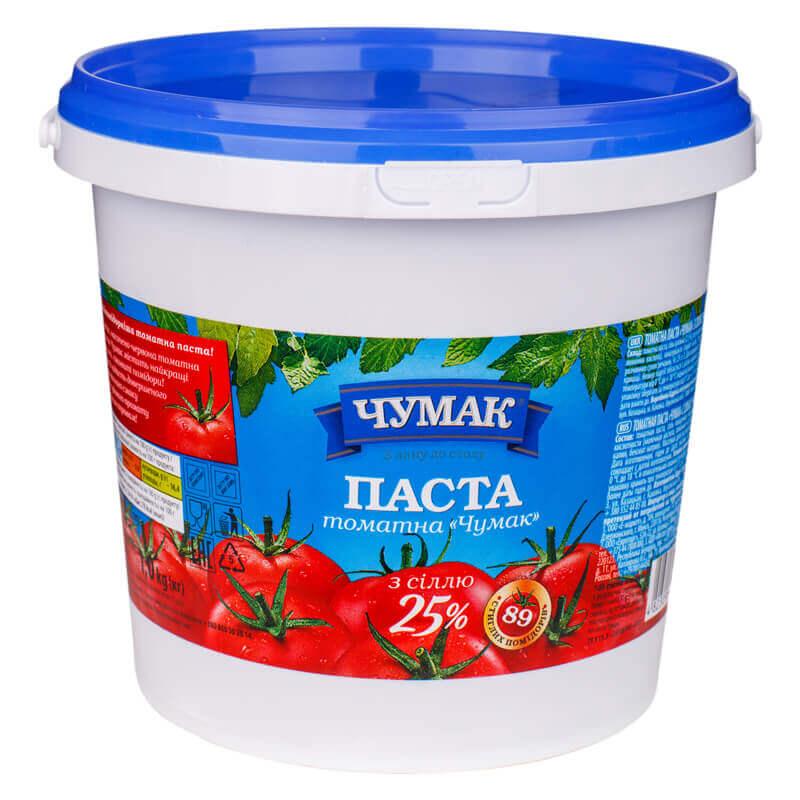 томатная паста 25% с солью тм чумак 1кг