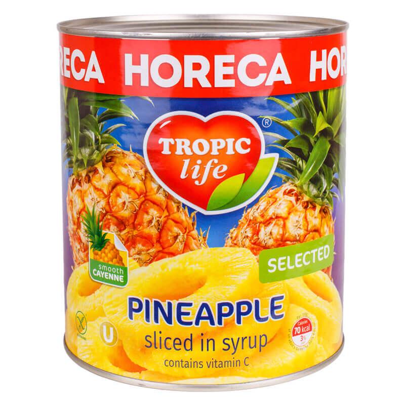 ананас кольцами в сиропе тм tropic life 2800г