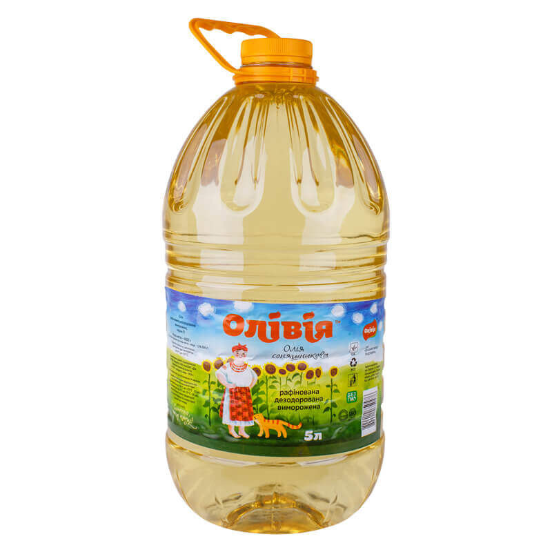 масло подсолнечное рафинированное тм олівія 5л