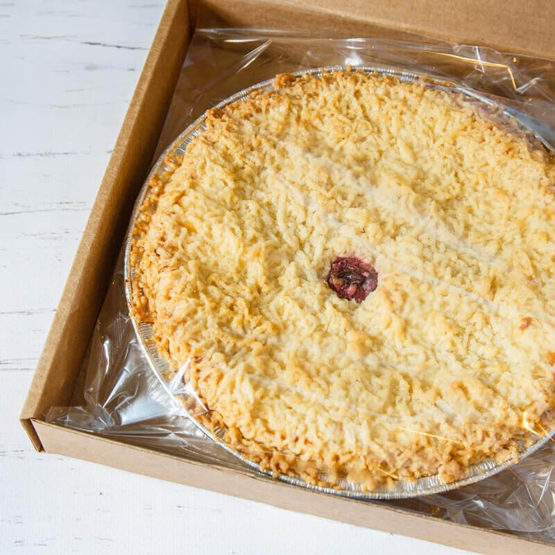пирог с сыром рикотта и вишней коробка