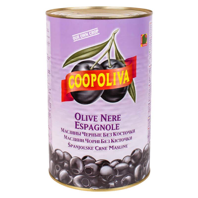 маслины черные без косточки coopoliva 4300г