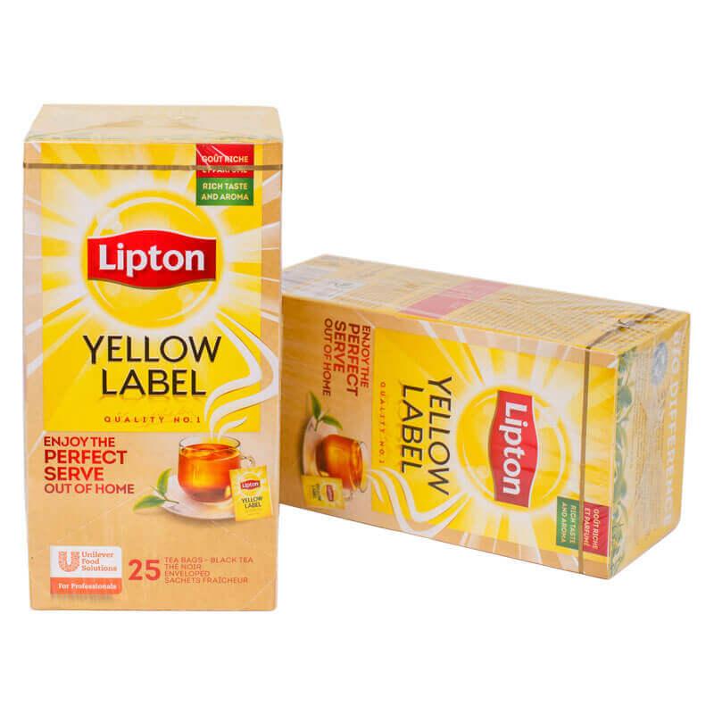 чай черный байховый yellow label tea lipton 25 пакетиков