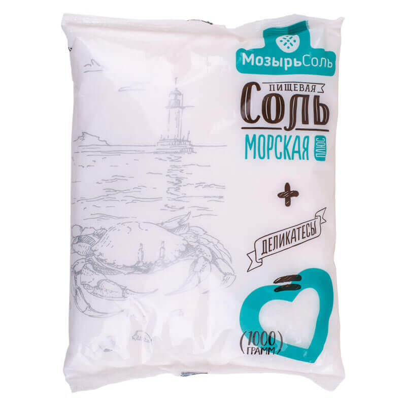 соль пищевая морская плюс мозырьсоль 1кг