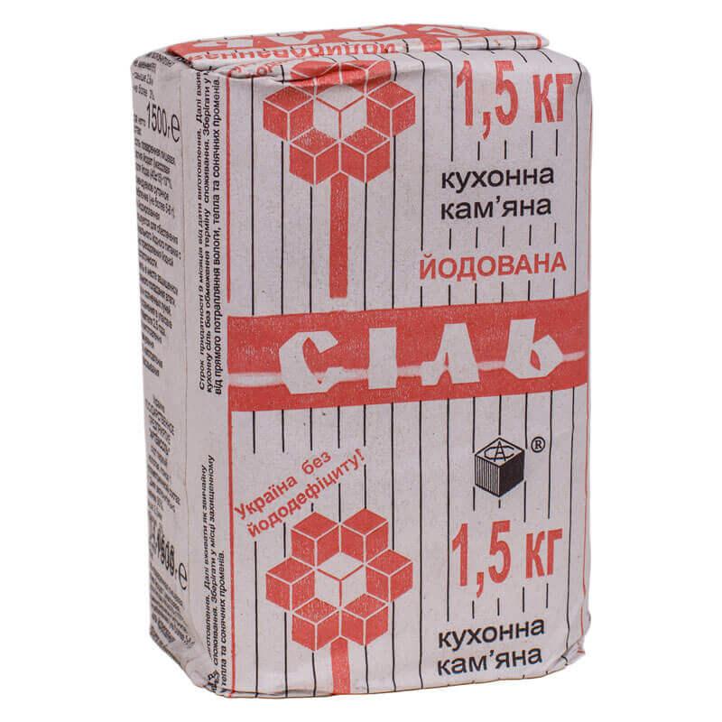соль поваренная каменная йодированная артемсіль 1500г