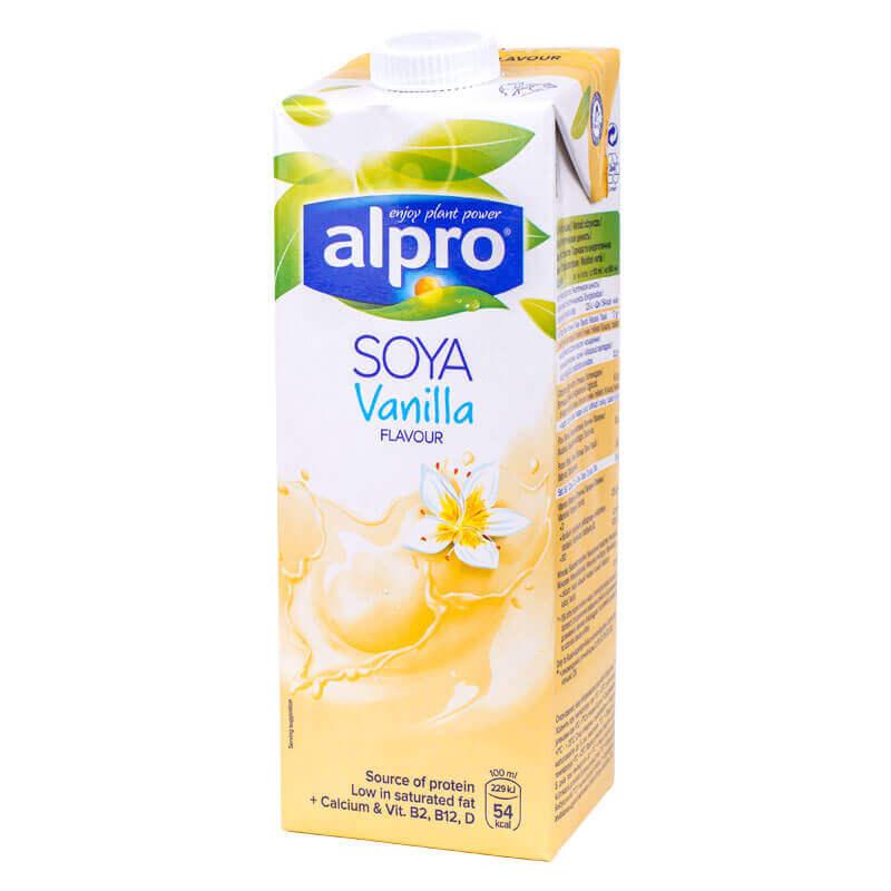 напиток соевый ванильный soya vanilla alpro 1л