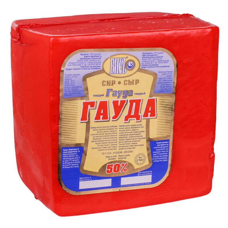сыр гауда 50% тм сыророб ~2,3кг