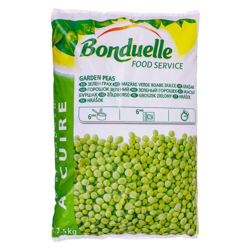 зеленый горошек свежезамороженный bonduelle 2,5кг