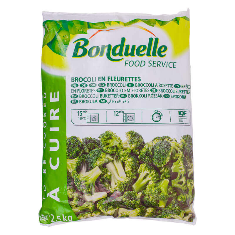 брокколи замороженная bonduelle 2,5кг