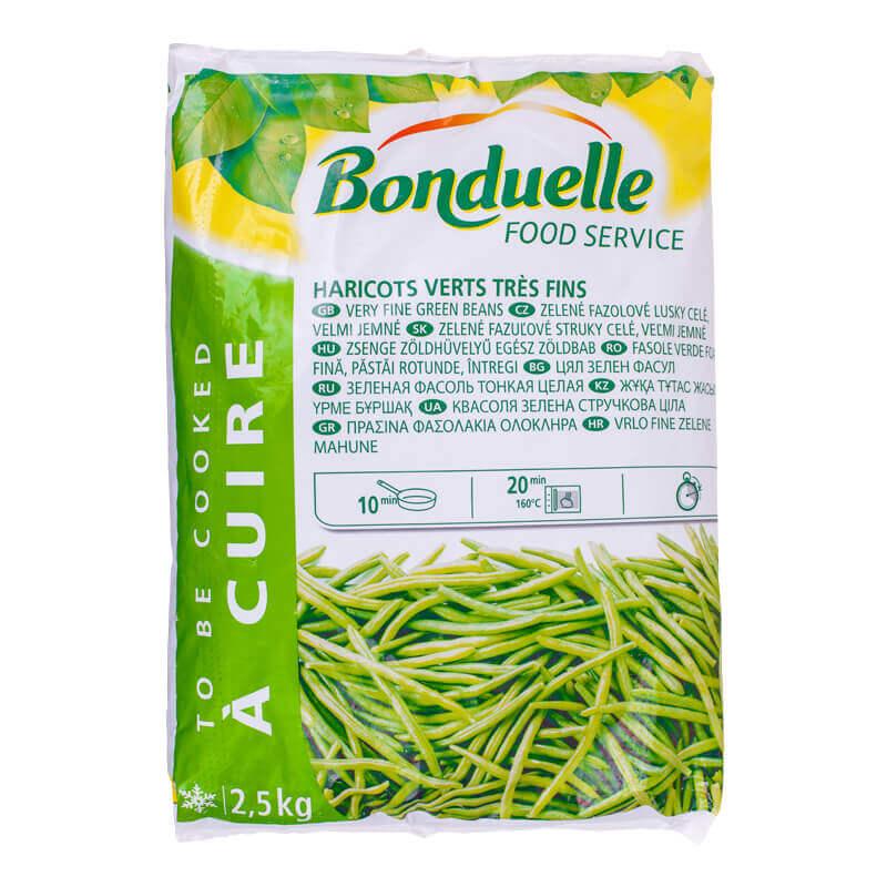 зеленая фасоль тонкая целая свежезамороженная bonduelle 2,5кг