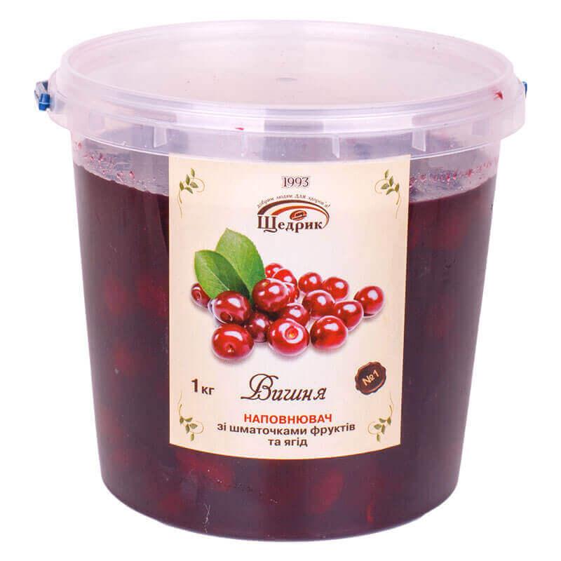 наполнитель с целой ягодой вишня щедрик 1кг