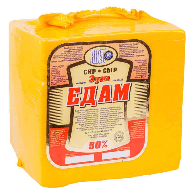 сыр эдам 50% тм высь