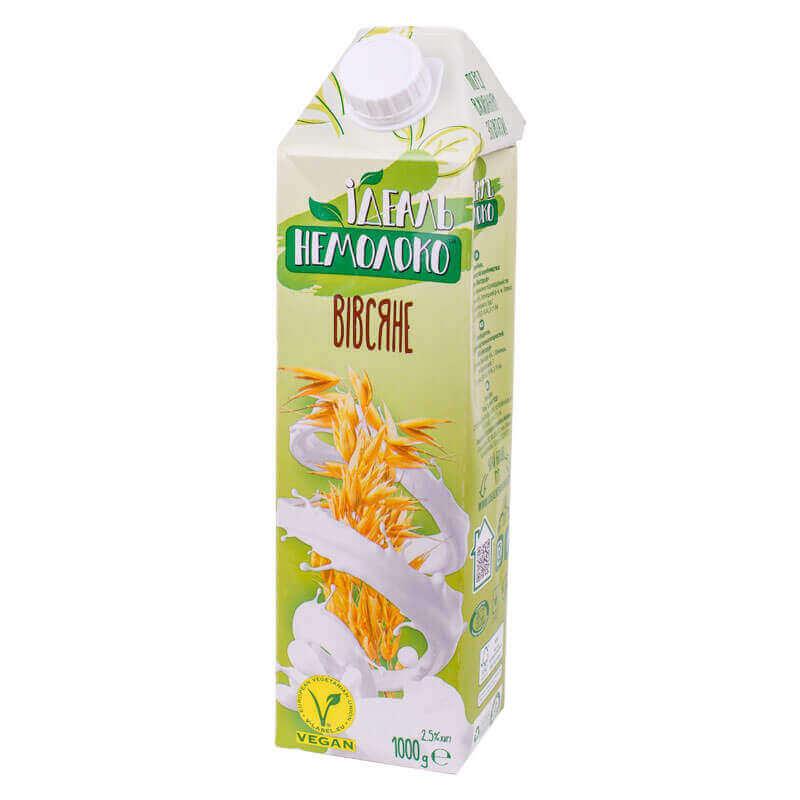 напиток ультрапастеризованный овсяный 2,5% жира идеаль немолоко 1000г