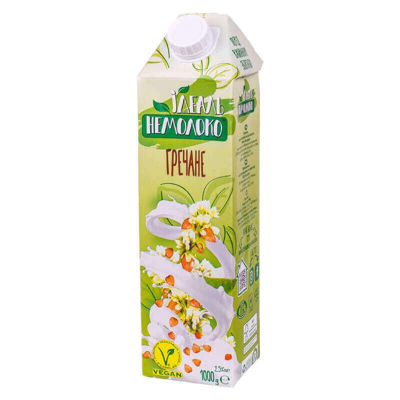 напиток ультрапастеризованный гречневый 2,5% жира идеаль немолоко 1000г