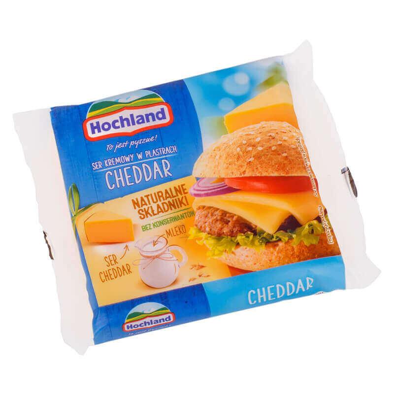 сыр плавленный чеддер ломтики hochland 130г