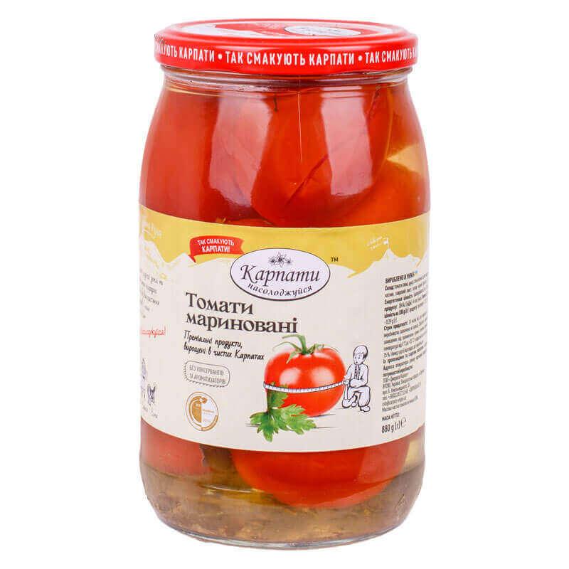 томаты маринованные карпати насолоджуйся 880г