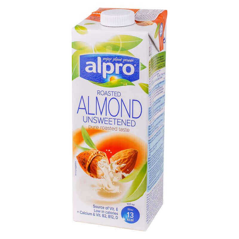 напиток миндальный almond без сахара alpro 1л