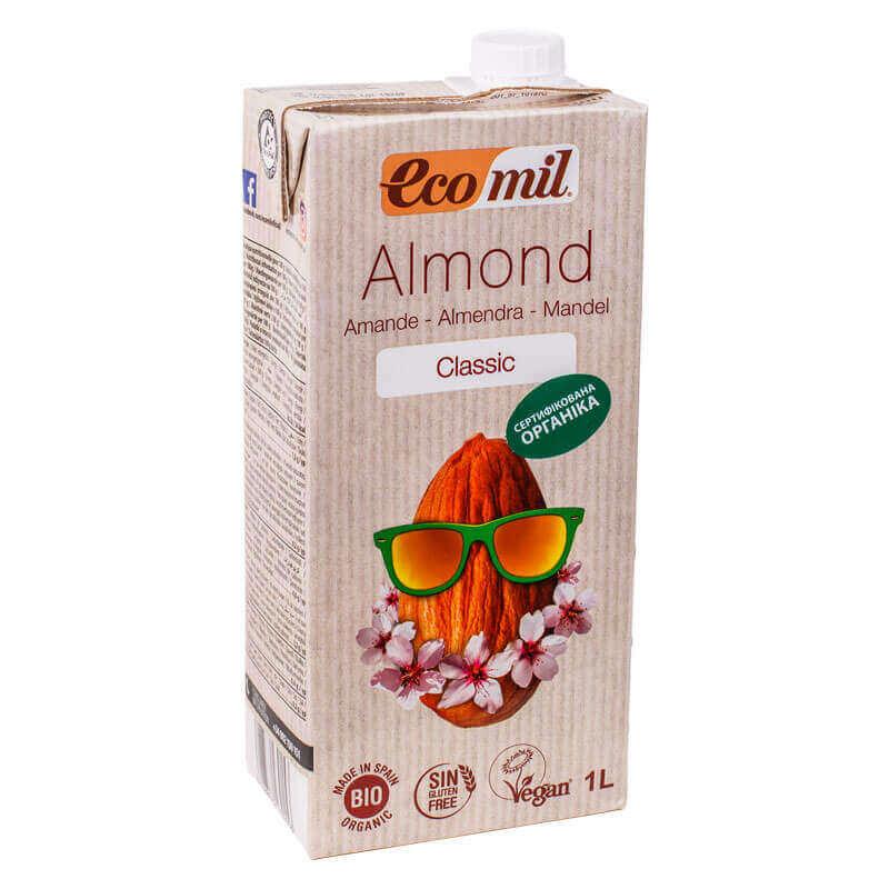 органическое растительное молоко из миндаля классическое ecomil 1л