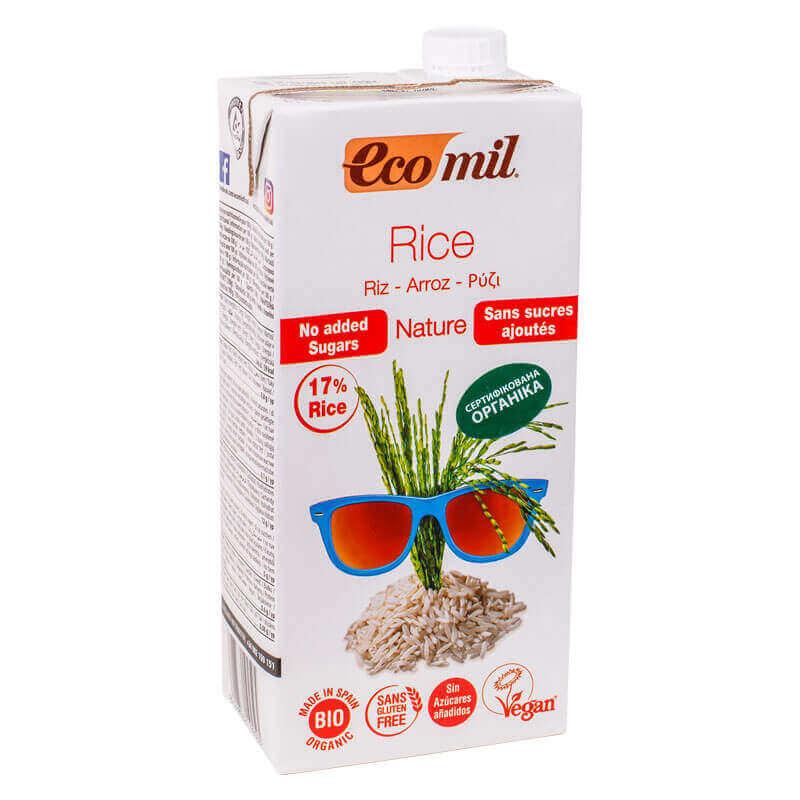 органическое растительное молоко из риса без сахара ecomil 1л